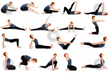 cutcaster-photo-100583536-Woman-in-Various-Sitting-Yoga-Poses